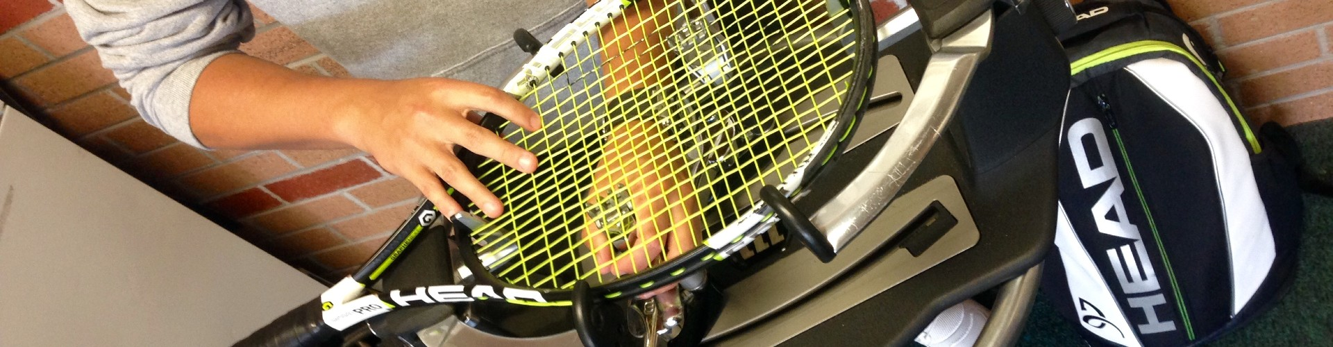 Restringing a Tennis raquet